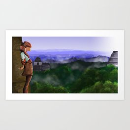 Over the Ruins Art Print