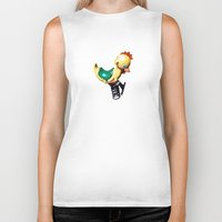chicken Biker Tanks featuring chicken by BzPortraits