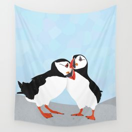 Puffin love you Wall Tapestry
