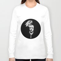 edgar allan poe Long Sleeve T-shirts featuring Edgar Allan Poe collage by GraphicDivine