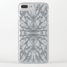 Snowflake Blue Clear iPhone Case