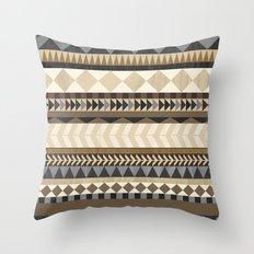 Dusty Aztec Pattern Throw Pillow