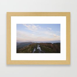 Rushup Edge at sunset. Derbyshire, UK. Framed Art Print
