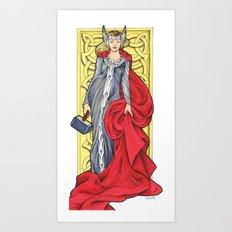 Lady Thor Art Print