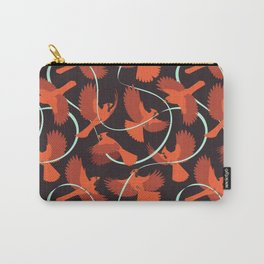 Cardinals with Ribbon Carry-All Pouch