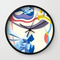 Diamonds, Hoses, Stairs, and Light Wall Clock