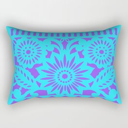 PAPEL PICADO - purple Rectangular Pillow