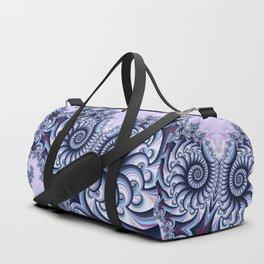 Owl Fractal Blueberry Duffle Bag