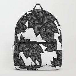 Denim leaves 2+black.white Backpack