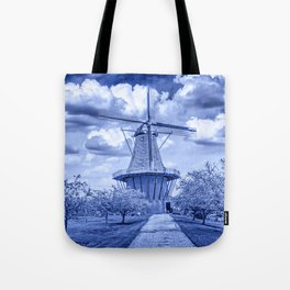 Delft Blue Dutch Windmill Tote Bag