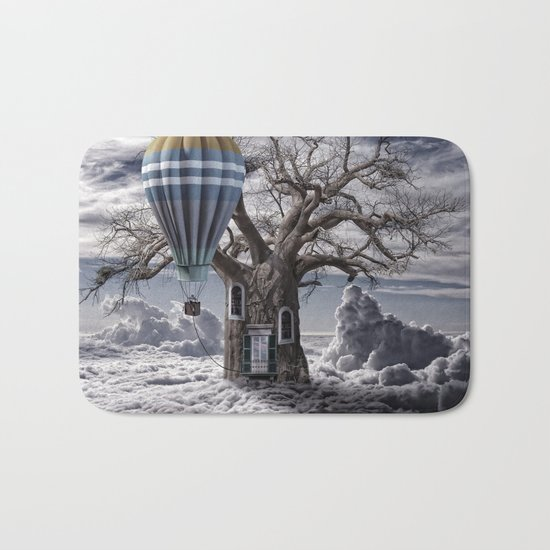 Home tree up in the clouds Bath Mat