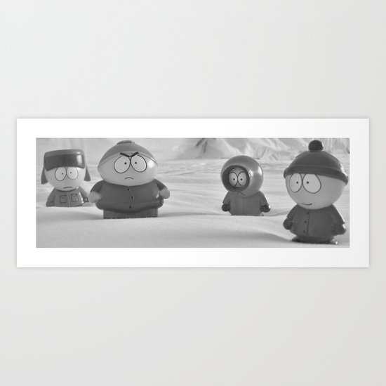 Usual Suspects - South Park Art Print