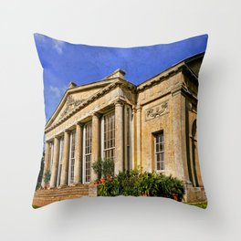 Temple Greenhouse Throw Pillow