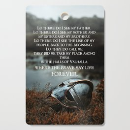 Brave May Live Viking Prayer Cutting Board
