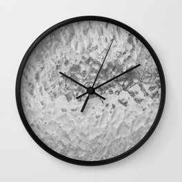 Clear Water (Black and White) Wall Clock