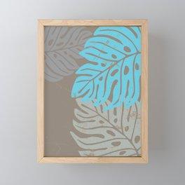 Hawaiian leaves pattern N0 2, Art Print collection, illustration original pop art graphic print Framed Mini Art Print