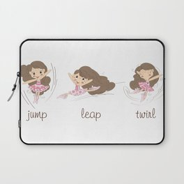 BellaRina - Jump, Leap, Twirl Laptop Sleeve