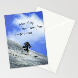 Great Things Never Come From Comfort Zones Stationery Cards