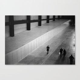 people in turbine hall Canvas Print