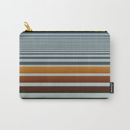 Masculine Grey Blue Wood Grain Gradient Stripes Carry-All Pouch