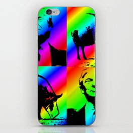 Trump with Pig Rainbow Stripe iPhone Skin