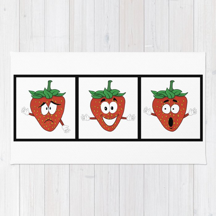 The Many Faces of Daryll Strawberry - An Emotional Strawberry Rug