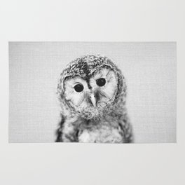 Baby Owl - Black & White Rug