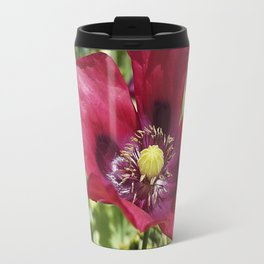 Pretty Purple Poppy Flower Travel Mug