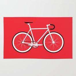 Red Fixed Gear Bike Rug
