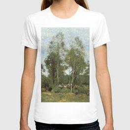 """Jean-Baptiste Camille Corot """"Clearing Pierre du Bois, the Évaux near Chateau"""" T-shirt"""