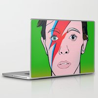 david bowie Laptop & iPad Skins featuring David Bowie by Alli Vanes