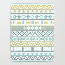 Aztec Influence Ptn Colorful Poster