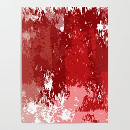Red Watercolor Poster