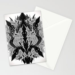 Silver Monster Stationery Cards