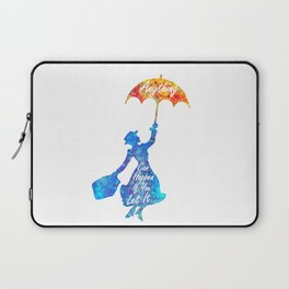 Anything Can Happen If You Let It - Mary Poppins Quote - colorful watercolor splatter Laptop Sleeve