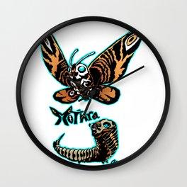 Mothra Kaiju Print FC Wall Clock