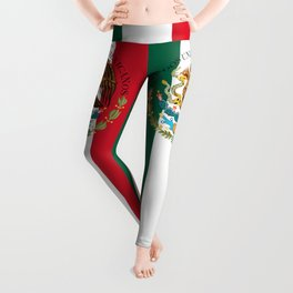 Flag of Mexico & Coat of Arms augmented scale Leggings