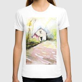 Beautiful Cottage Garden Painting T-shirt