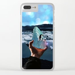 Penguins on a piece of ice by GEN Z Clear iPhone Case
