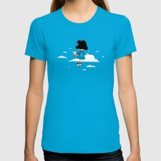 I wonder where Lucy is... Womens Fitted Tee X-LARGE Teal