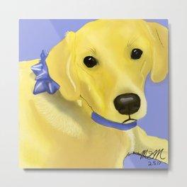 Warholesque Dog Metal Print
