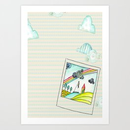 Polaroid Day  Art Print