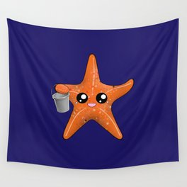 Kawaii Starfish Wall Tapestry