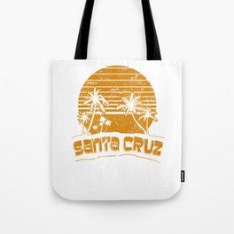 Santa Cruz CA Sunset Beach Vacation Island Vintage Orange Tote Bag