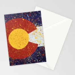 Splatter Colorado Flag Art Stationery Cards