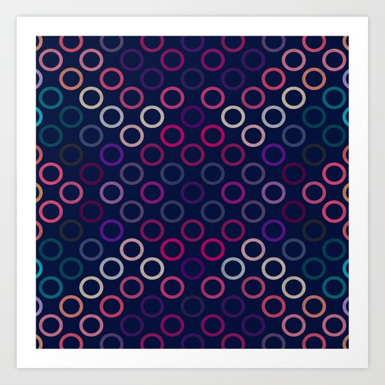 Colorful Circles VIII Art Print