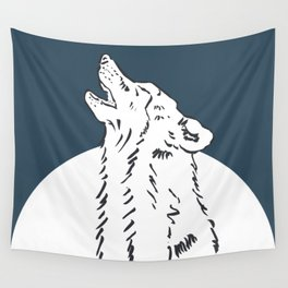 Pra Loup Howling Wolf Wall Tapestry
