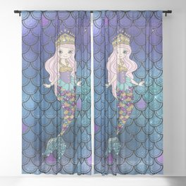 Princess of Sea   Glitter Mermaid Sheer Curtain