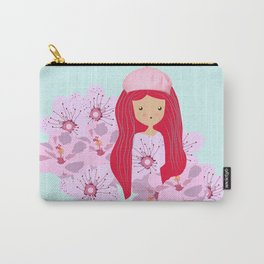 Girl on flowers Carry-All Pouch