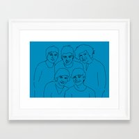 1d Framed Art Prints featuring 1D by Rebecca Bear